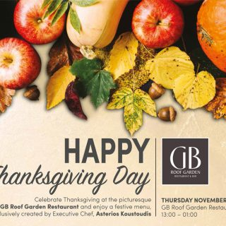 Celebrate Thanksgiving at the GB Roof Garden Restaurant