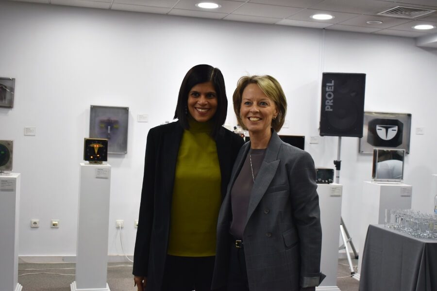 Sudha Nair-Iliades, Publisher of Athens Insider with H.E Ambassador Charlotte Sammelin