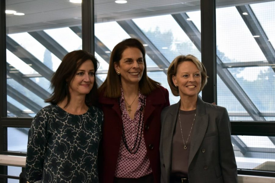 H.E Ambassador Kate Logan with Claudia Carydis and H.E Ambassador Charlotte Sammelin