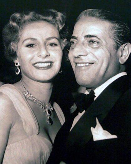 Aristotle Onassis with Athina Livanos