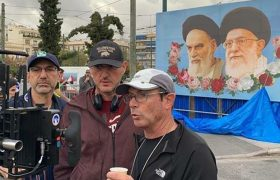 Undercover agent: Athens puts on a disguise to play Tehran