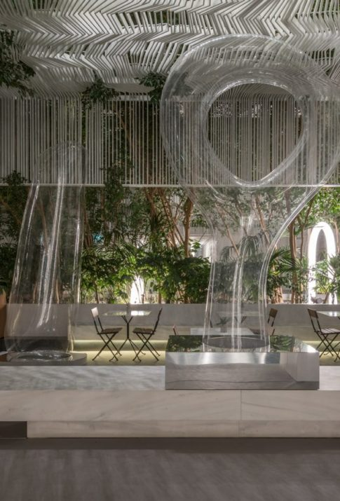 The ethereal elegance of Archipelago's sculptures at the Cycladic Cafe